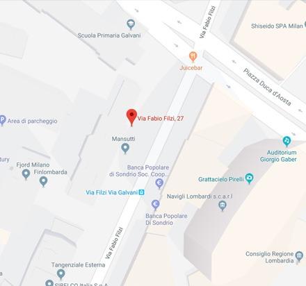 Posizione del centro di Estetica Medica MedikalBeauty Milano